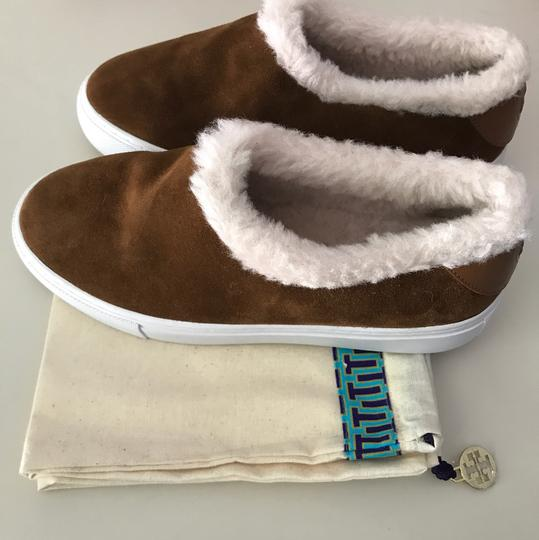 Tory Burch Shearling Ugg Brown Boots Image 4