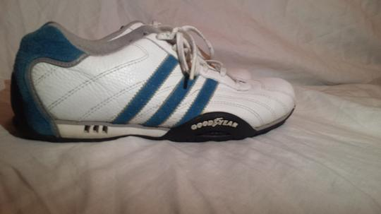 Adidas /Goodyear (Mens 6/Womans 7.5) Electric Blue/White Athletic Image 2
