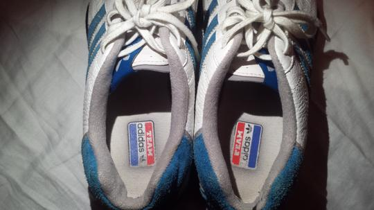 Adidas /Goodyear (Mens 6/Womans 7.5) Electric Blue/White Athletic Image 4