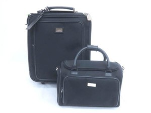 Gucci Rolling Luggage Trolley Carry-on Roller Set Black Travel Bag
