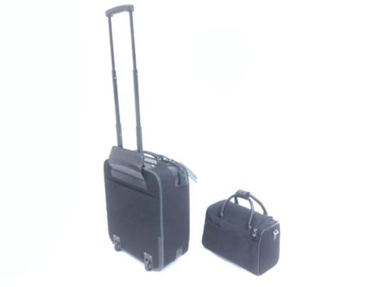 Gucci Rolling Luggage Trolley Carry-on Roller Set Black Travel Bag Image 1