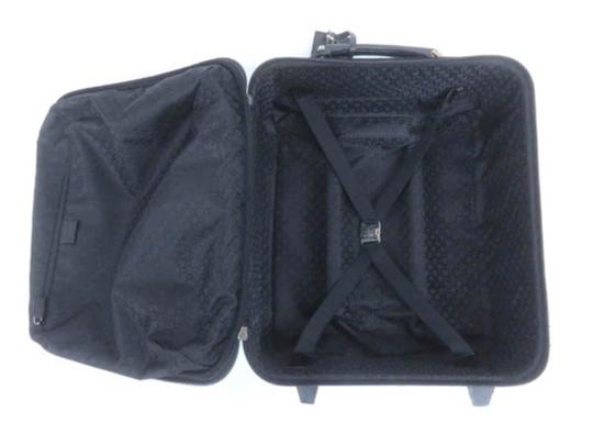 Gucci Rolling Luggage Trolley Carry-on Roller Set Black Travel Bag Image 2