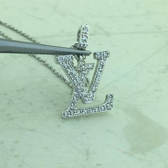 Other 18K Diamond LV Initials Diamond Pendant With Free 14k Chain Image 2