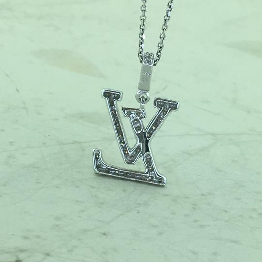 Other 18K Diamond LV Initials Diamond Pendant With Free 14k Chain Image 4