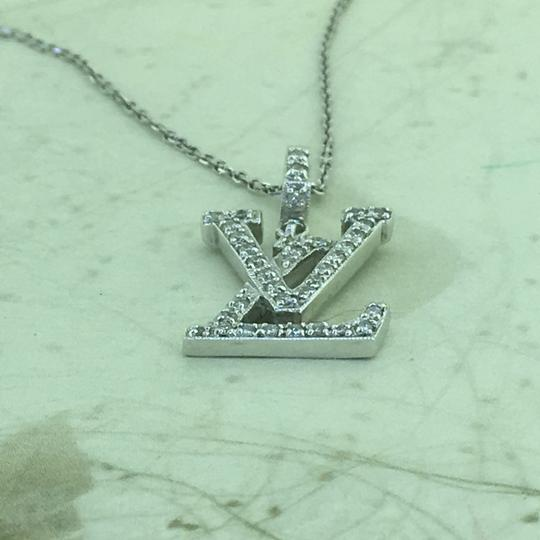 Other 18K Diamond LV Initials Diamond Pendant With Free 14k Chain Image 6