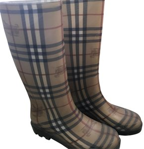 Burberry brown, red, black Boots