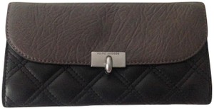 """Marc by Marc Jacobs Marc Jacobs Dark Charcoal Grey Quilted """"The Deluxe"""" Wallet"""