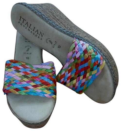 Italian Shoemakers Multi color bright Sandals Image 0