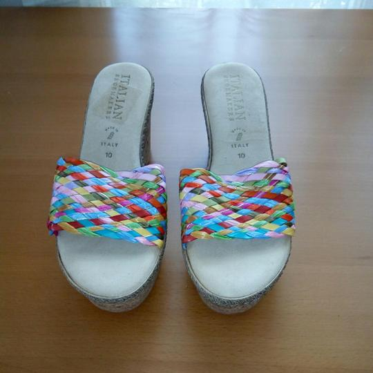Italian Shoemakers Multi color bright Sandals Image 1