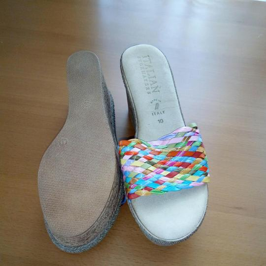 Italian Shoemakers Multi color bright Sandals Image 3