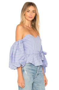 Parker Off-the-shoulder Sweetheart Top Blue