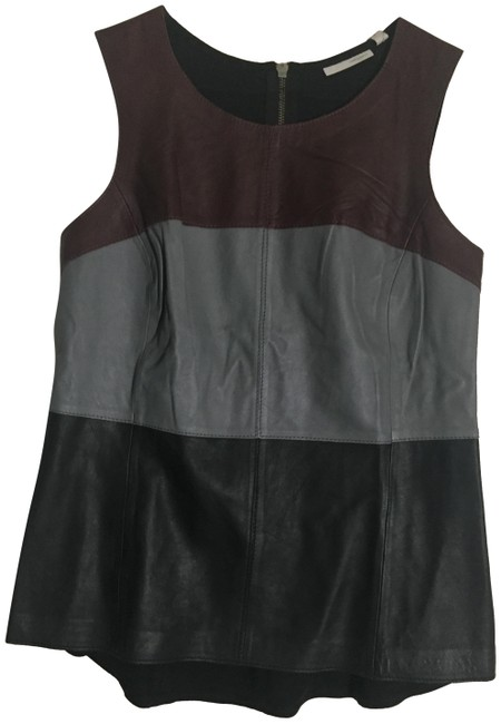 Preload https://img-static.tradesy.com/item/23469739/halogen-multi-color-front-leather-mixed-media-tank-topcami-size-8-m-0-2-650-650.jpg