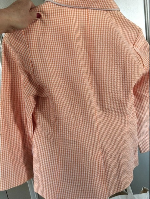 Vim Cotton Made In China Button Down Shirt White and Orange Image 1