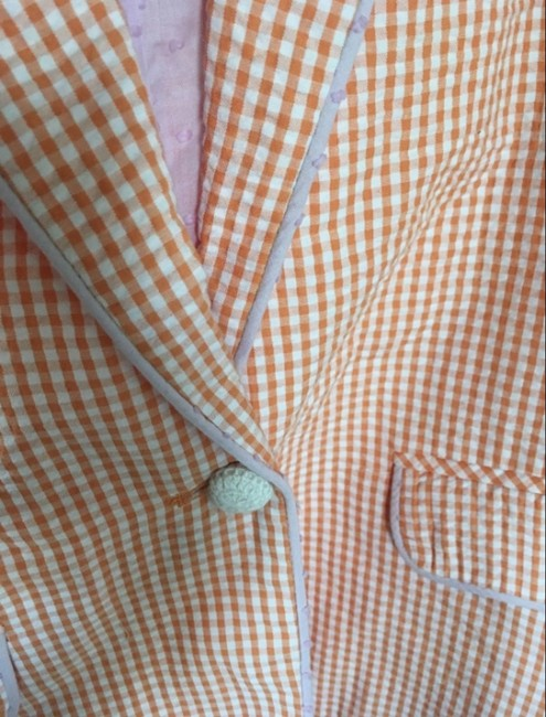 Vim Cotton Made In China Button Down Shirt White and Orange Image 2