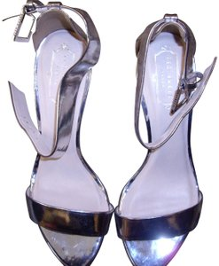 Ted Baker Ankle Strap Silver Sandals