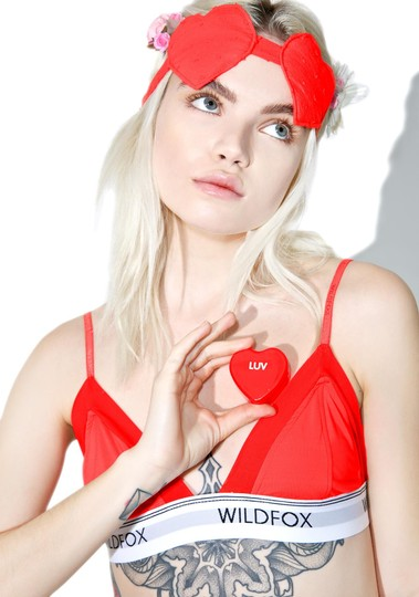 Wildfox Wildfox Love at First Sight Heart Eye Mask Image 6