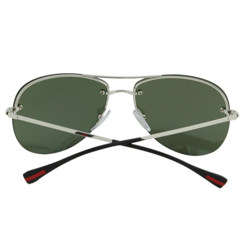 9381b5c0d0d Prada New Sport PS50R Linea Rossa Men Mirrored Rimless Aviator Sunglasses  Image 6. 1234567