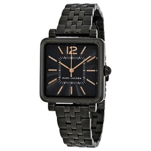 Marc Jacobs $250 NWT Vic Black IP Three-Hand Watch MJ3518