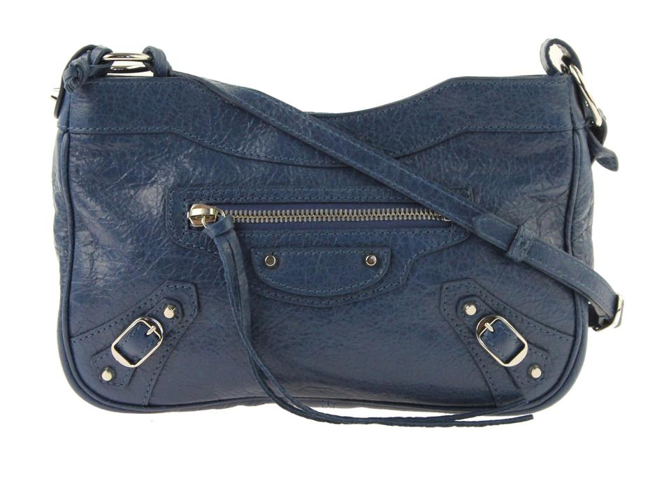 c5e60c3da85d Balenciaga Classic Hip Aj Blue Leather Shoulder Bag - Tradesy