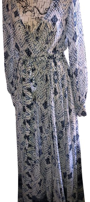 Item - Blue White Chelsea and Violet Long Casual Maxi Dress Size 6 (S)