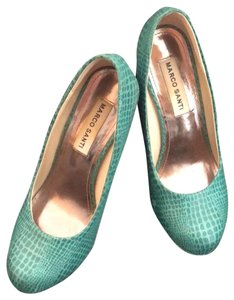 Marco Santi teal Pumps