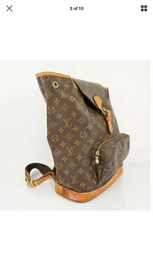 Louis Vuitton Leather Vintage Limited Edition European Luxury Backpack Image 5