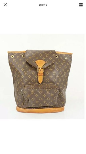 Louis Vuitton Leather Vintage Limited Edition European Luxury Backpack Image 6