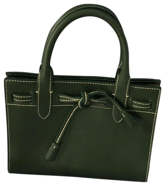 Item - D B Small Green Leather Baguette