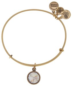 Alex and Ani ALEX AND ANI APRIL BIRTHSTONE CRYSTAL JEWEL EXPANDABLE SILVER BANGLE