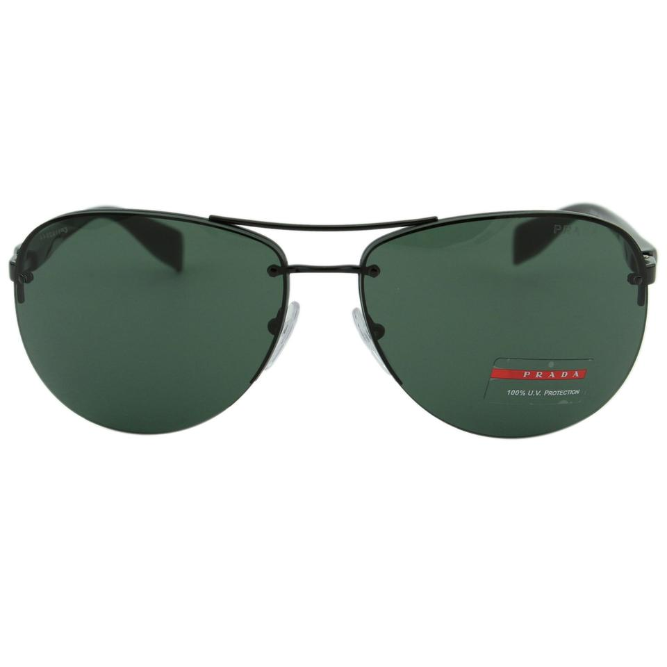 9e96f7ede65f Prada New Sport PS56M 7AX3O1 Linea Rossa Men Rimless Aviator 65mm Sunglasses  Image 0 ...