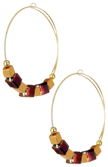 Alex and Ani ALEX AND ANI CRYSTAL GEO JEWEL BEADED HOOP EARRINGS Image 0