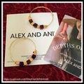 Alex and Ani ALEX AND ANI CRYSTAL GEO JEWEL BEADED HOOP EARRINGS Image 1