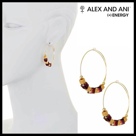 Alex and Ani ALEX AND ANI CRYSTAL GEO JEWEL BEADED HOOP EARRINGS Image 3