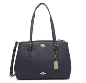 Coach Turnlock Carryall Satchel in Navy Blue