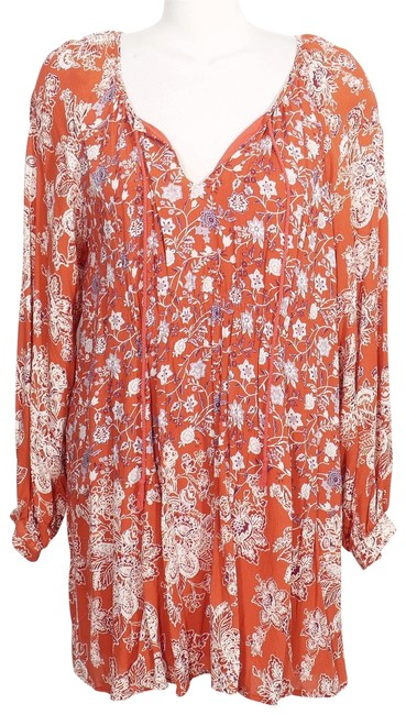 Preload https://img-static.tradesy.com/item/23470037/free-people-blood-orange-red-combo-lucky-loosie-loosey-floral-swing-mini-short-casual-dress-size-6-s-0-1-650-650.jpg