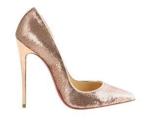 Christian Louboutin Sokate Kate Pigalle Stiletto Patent Beige Pumps