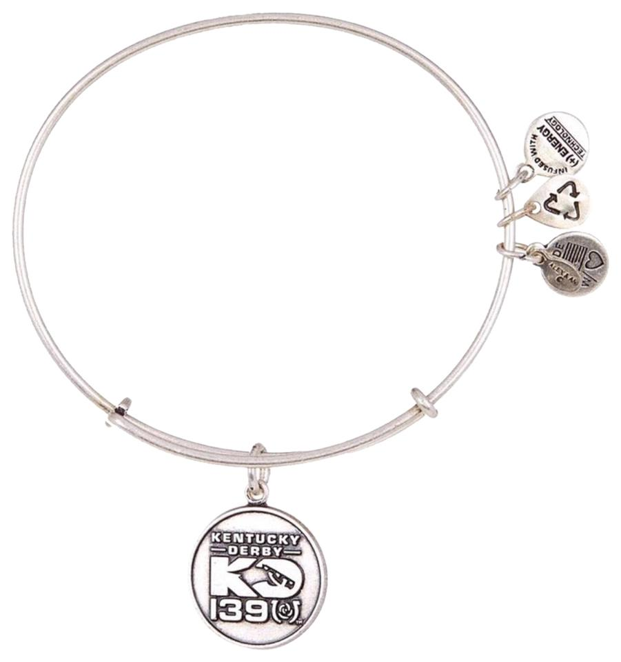 b36204c06f1dc1 Alex and Ani ALEX AND ANI KENTUCKY DERBY HORSE SILVER CHARM BANGLE Image 0  ...