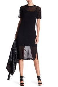 Bobeau short dress black Mesh Mesh Xs Xs on Tradesy