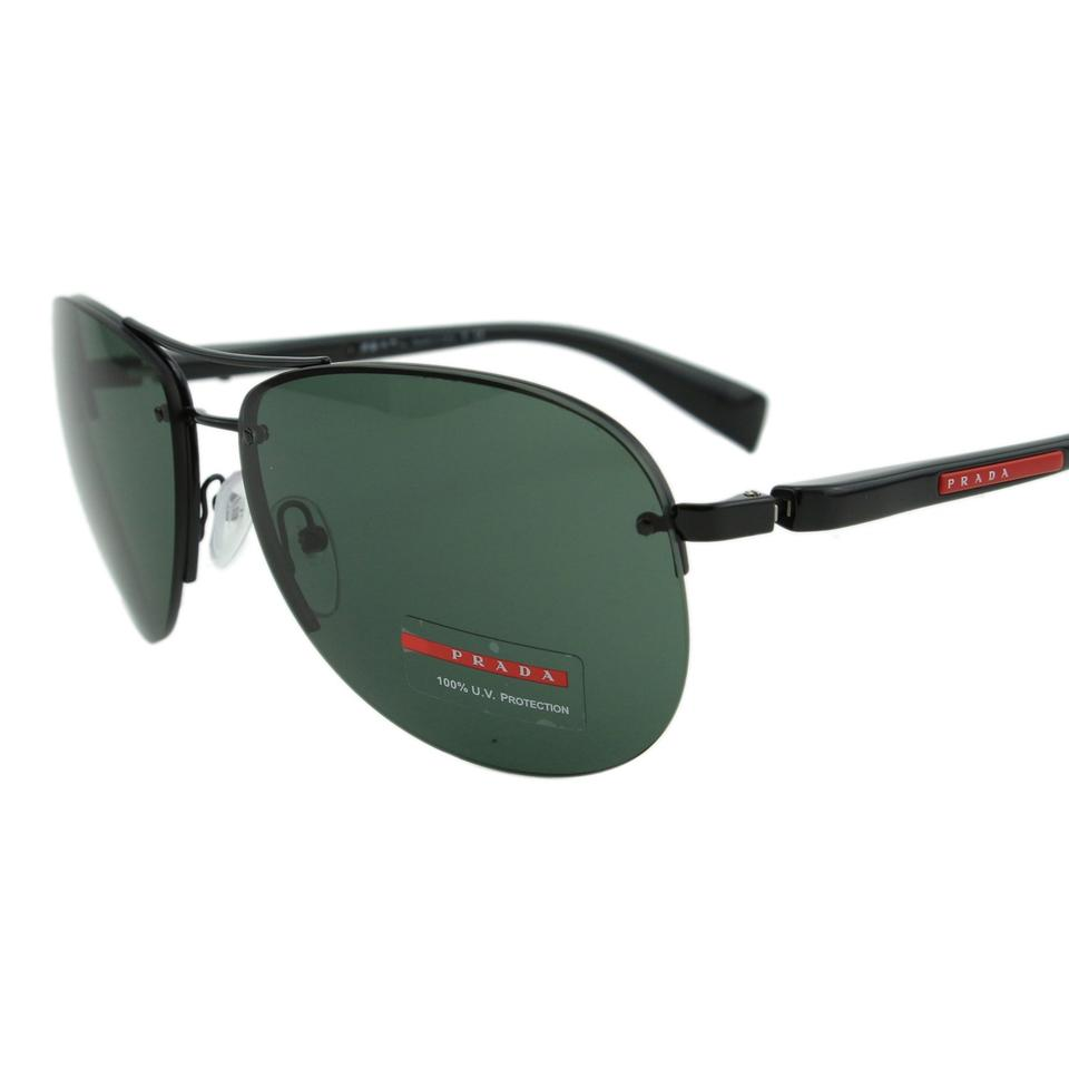 a8fc8549ec4e Prada New Sport Ps56m 7ax3o1 Linea Rossa Men Rimless Aviator 65mm Sunglasses  Image 0 ...