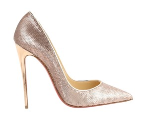 Christian Louboutin Sequin Stiletto Nude Pumps
