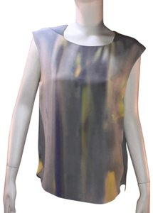 Theyskens' Theory Silk Print Sleeveless Top Multi-color