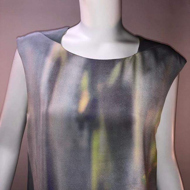 Theyskens' Theory Silk Print Sleeveless Top Multi-color Image 1