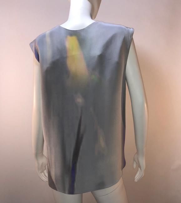 Theyskens' Theory Silk Print Sleeveless Top Multi-color Image 3
