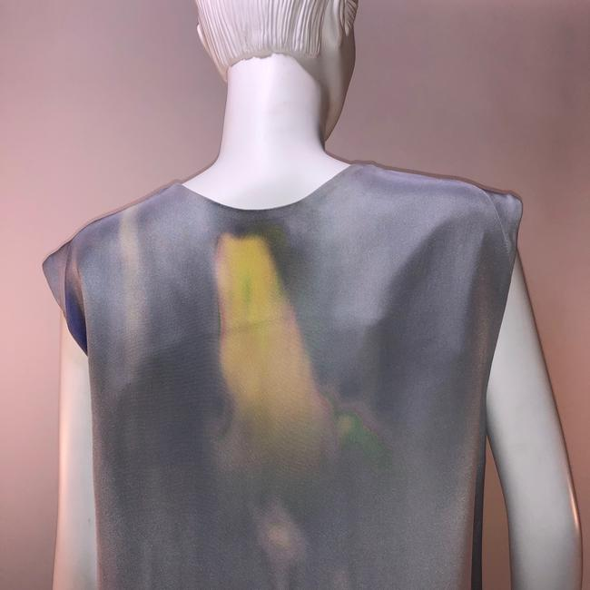 Theyskens' Theory Silk Print Sleeveless Top Multi-color Image 4