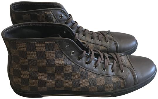 Preload https://img-static.tradesy.com/item/23470375/louis-vuitton-black-and-brown-men-s-lv-damier-trainers-sneakers-size-us-12-regular-m-b-0-1-540-540.jpg