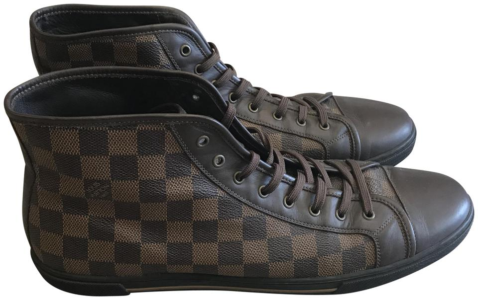 cd9ef3b6f68 Louis Vuitton Black and Brown Men's Lv Damier Trainers Sneakers Size US 12  Regular (M, B) 23% off retail