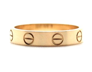 Cartier 18K gold Love band ring size 50 3.5mm wide