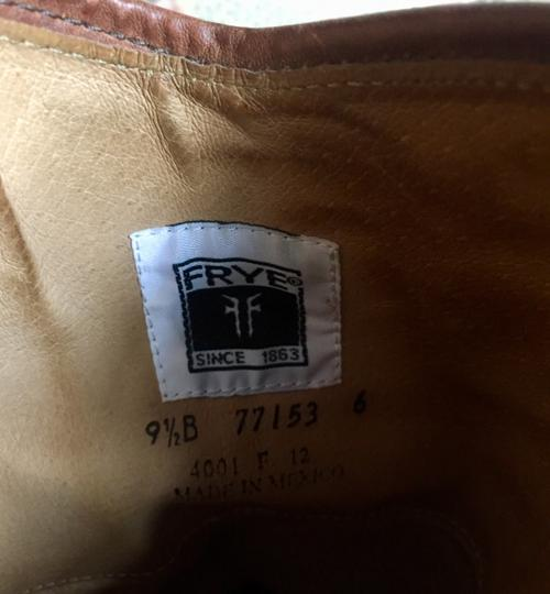 Frye Leather Riding Button Preppy Dark Brown Boots Image 4