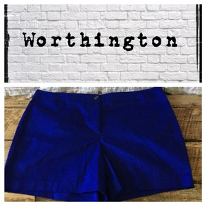 Worthington Dress Shorts Electric Cobalt