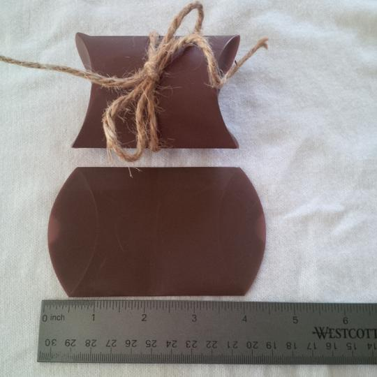 Brown Chocolate Pillow Boxes ~ 150 Count Wedding Favors Image 2